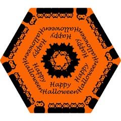 Happy Halloween - owls Mini Folding Umbrellas