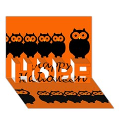 Happy Halloween   Owls Hope 3d Greeting Card (7x5)