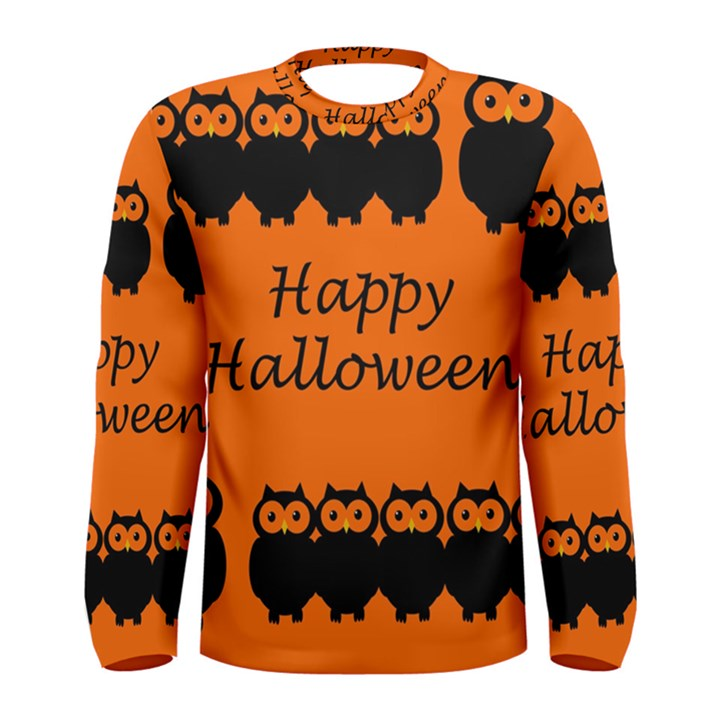 Happy Halloween - owls Men s Long Sleeve Tee