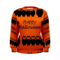 Happy Halloween   Owls Women s Sweatshirt