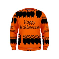 Happy Halloween   Owls Kids  Sweatshirt