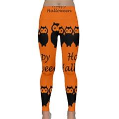 Happy Halloween - owls Yoga Leggings