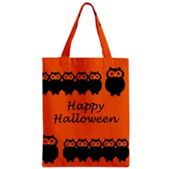 Happy Halloween   Owls Zipper Classic Tote Bag