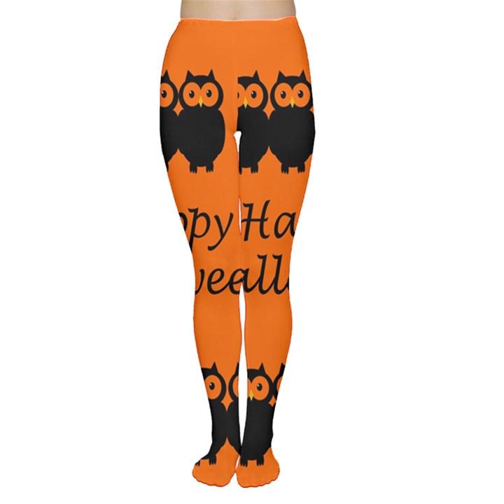 Happy Halloween - owls Women s Tights