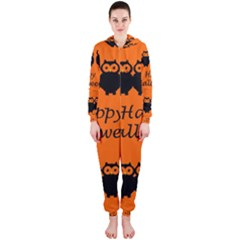 Happy Halloween   Owls Hooded Jumpsuit (ladies)