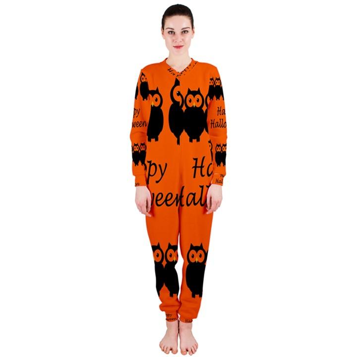 Happy Halloween - owls OnePiece Jumpsuit (Ladies)