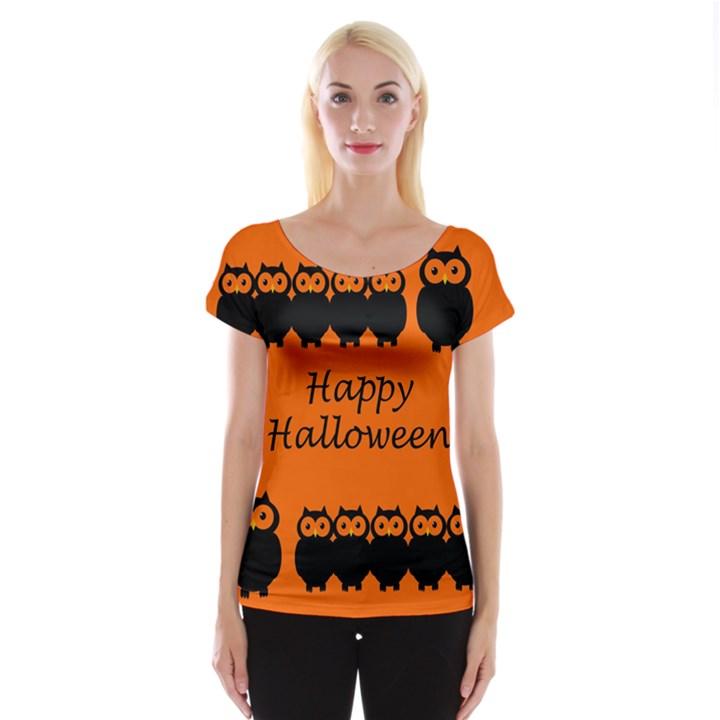 Happy Halloween - owls Women s Cap Sleeve Top
