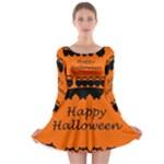 Happy Halloween - owls Long Sleeve Skater Dress