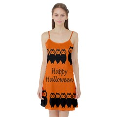 Happy Halloween   Owls Satin Night Slip