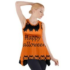 Happy Halloween   Owls Side Drop Tank Tunic