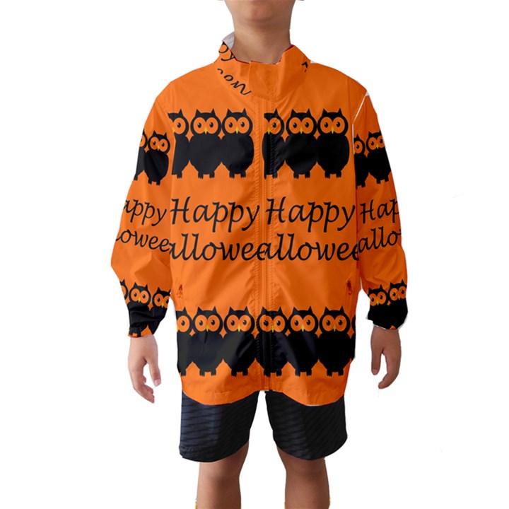 Happy Halloween - owls Wind Breaker (Kids)