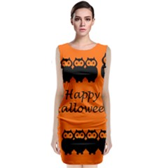 Happy Halloween   Owls Classic Sleeveless Midi Dress