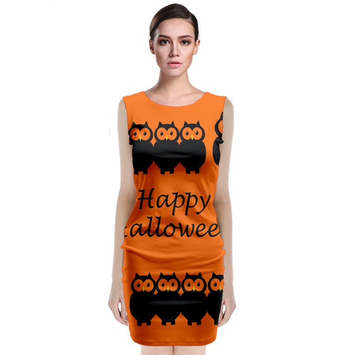 Happy Halloween - owls Classic Sleeveless Midi Dress