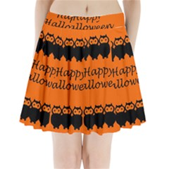 Happy Halloween   Owls Pleated Mini Skirt