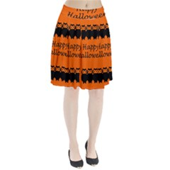 Happy Halloween   Owls Pleated Skirt
