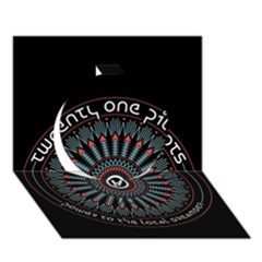 Twenty One Pilots Circle 3D Greeting Card (7x5) by Onesevenart