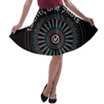 Twenty One Pilots A-line Skater Skirt