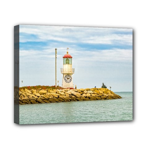Rock Breakwater Salinas Ecuador Canvas 10  X 8  by dflcprints