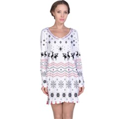 Ugly Christmas Humping Long Sleeve Nightdress by Onesevenart