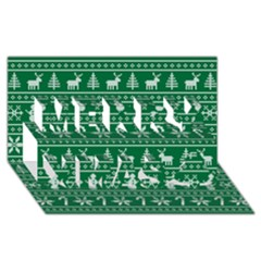 Ugly Christmas Merry Xmas 3d Greeting Card (8x4) by Onesevenart