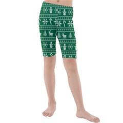 Ugly Christmas Kids  Mid Length Swim Shorts by Onesevenart