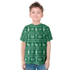 Ugly Christmas Kids  Cotton Tee by Onesevenart