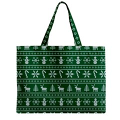 Ugly Christmas Zipper Mini Tote Bag by Onesevenart