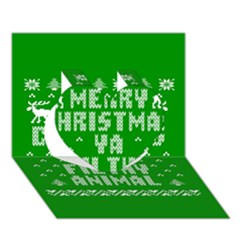 Ugly Christmas Ya Filthy Animal Heart 3d Greeting Card (7x5) by Onesevenart