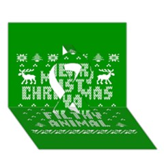 Ugly Christmas Ya Filthy Animal Ribbon 3d Greeting Card (7x5) by Onesevenart