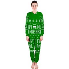 Ugly Christmas Ya Filthy Animal Onepiece Jumpsuit (ladies)  by Onesevenart