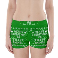 Ugly Christmas Ya Filthy Animal Boyleg Bikini Wrap Bottoms by Onesevenart