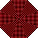 Lumberjack Plaid Fabric Pattern Red Black Straight Umbrellas View1