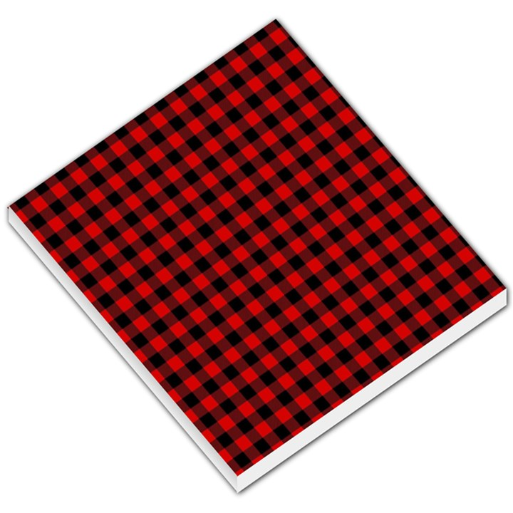 Lumberjack Plaid Fabric Pattern Red Black Small Memo Pads