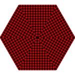 Lumberjack Plaid Fabric Pattern Red Black Mini Folding Umbrellas
