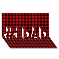 Lumberjack Plaid Fabric Pattern Red Black #1 Dad 3d Greeting Card (8x4) by EDDArt