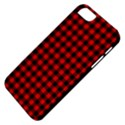Lumberjack Plaid Fabric Pattern Red Black Apple iPhone 5 Classic Hardshell Case View4