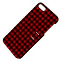 Lumberjack Plaid Fabric Pattern Red Black Apple iPhone 5 Hardshell Case with Stand View4