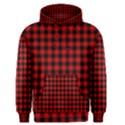 Lumberjack Plaid Fabric Pattern Red Black Men s Pullover Hoodie View1