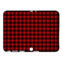 Lumberjack Plaid Fabric Pattern Red Black Samsung Galaxy Tab 4 (10.1 ) Hardshell Case  View1