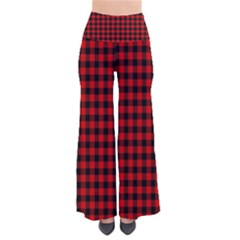 Lumberjack Plaid Fabric Pattern Red Black Pants by EDDArt