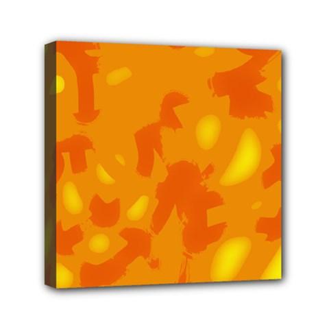 Orange Decor Mini Canvas 6  X 6
