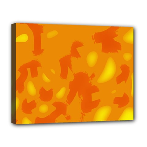 Orange Decor Canvas 14  X 11