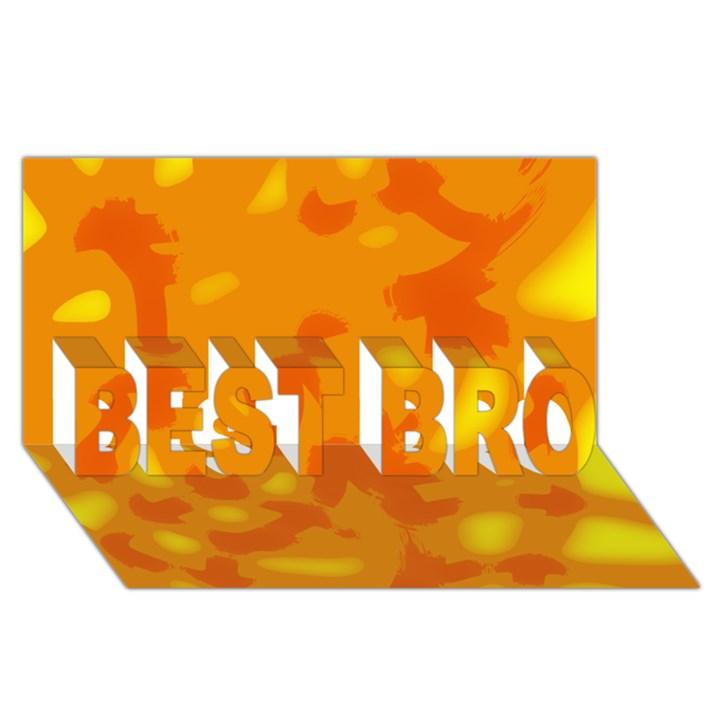 Orange decor BEST BRO 3D Greeting Card (8x4)