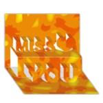 Orange decor Miss You 3D Greeting Card (7x5)