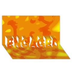 Orange Decor Engaged 3d Greeting Card (8x4) by Valentinaart