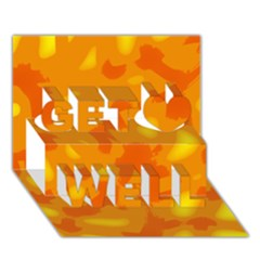 Orange decor Get Well 3D Greeting Card (7x5)