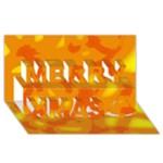 Orange decor Merry Xmas 3D Greeting Card (8x4)