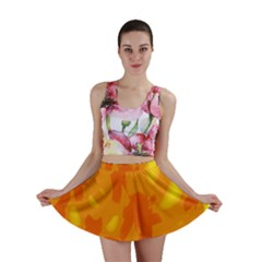 Orange Decor Mini Skirt by Valentinaart