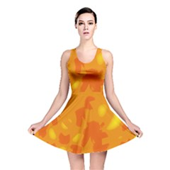 Orange Decor Reversible Skater Dress by Valentinaart