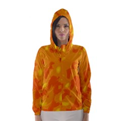 Orange Decor Hooded Wind Breaker (women)